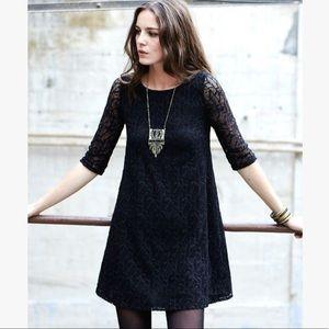 Sézane Black Lace Thelma Dress